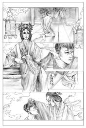 "PA Page One. Graphite, 8 x 11"", 2014."