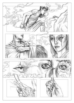 """PA Page Four. Graphite, 8 x 11"""", 2014."""