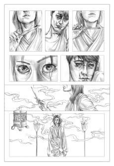 "PA Page Three. Graphite, 8 x 11"", 2014."