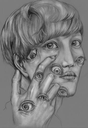"Eye. Graphite , 11x 14"", 2015."