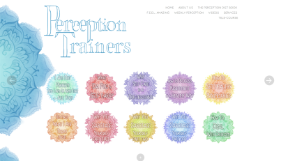 The Perception Trainers - Website Hompage