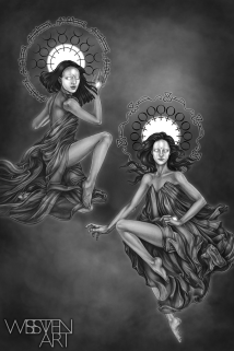 Mercury and Venus. Graphite and Digital, 2018.