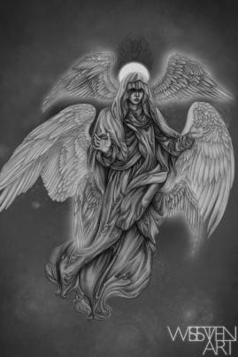 Seraphim Death. Graphite and Digital, 2018.