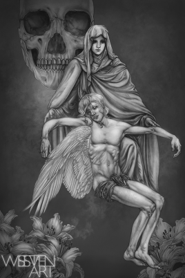 Drowned Heir. Graphite and Digital, 2018.
