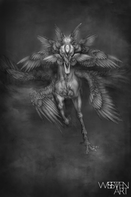 Dark Horse. Graphite and Digital, 2018.