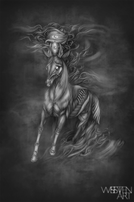 Red Horse. Graphite and Digital, 2018.