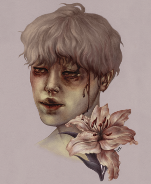 Bleed. Graphite and Digital, 2019.