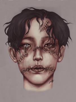 Stitches. Graphite and Digital, 2019.